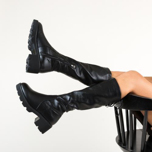 Cizme Hale Negre - Cizme dama - Cizme sub genunchi
