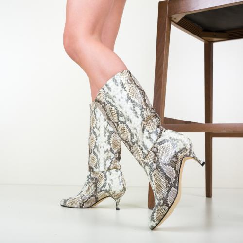 Cizme Tomic Bej - Cizme dama - Cizme peste genunchi