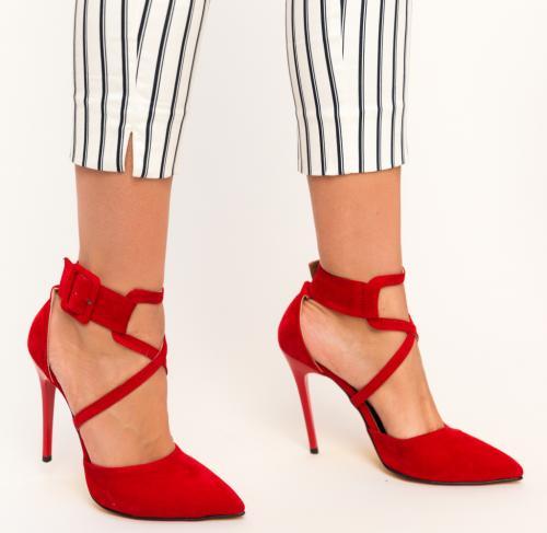 Pantofi Bruno Rosii 2 - Pantofi depurtat - Pantofi cu toc subtire