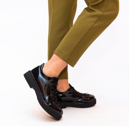 Pantofi Casual Lukano Negri 2 - Incaltaminte casual - Pantofi casual