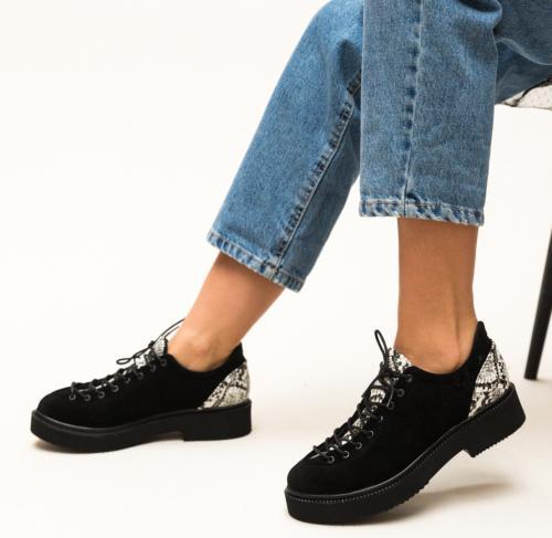 Pantofi Casual Neave Negri 4 - Incaltaminte casual - Pantofi casual