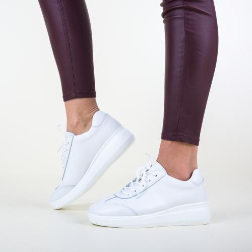 Pantofi Casual Sash Albi - Incaltaminte casual - Pantofi casual