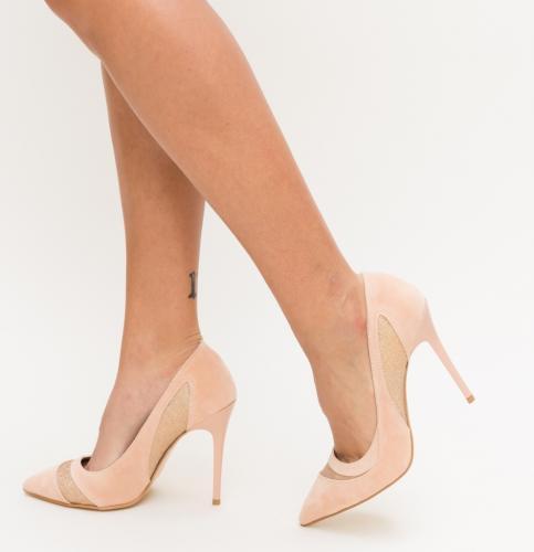 Pantofi Cinema Roz - Pantofi depurtat - Pantofi cu toc subtire