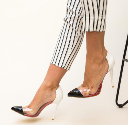Pantofi Fahym Albi - Pantofi depurtat - Pantofi cu toc subtire