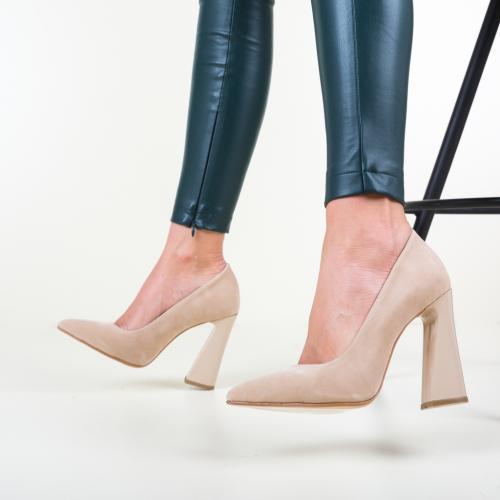 Pantofi Globus Bej - Pantofi depurtat - Pantofi cu toc gros