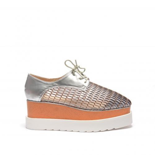 Pantofi Gyno Argintii - Incaltaminte casual - Casual cu platforma