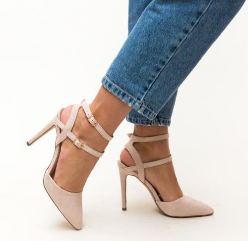 Pantofi Jarvis Nude - Pantofi depurtat - Pantofi cu toc subtire