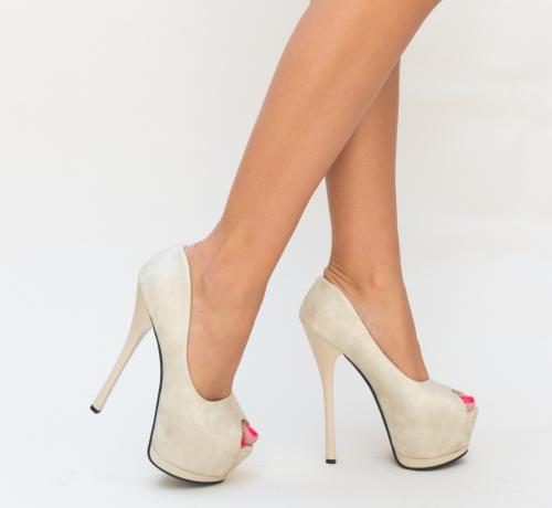 Pantofi Joto Bej - Pantofi depurtat - Pantofi cu platforma