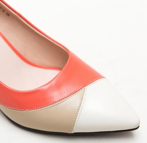 Pantofi Kit Corai - Pantofi depurtat - Pantofi cu toc gros