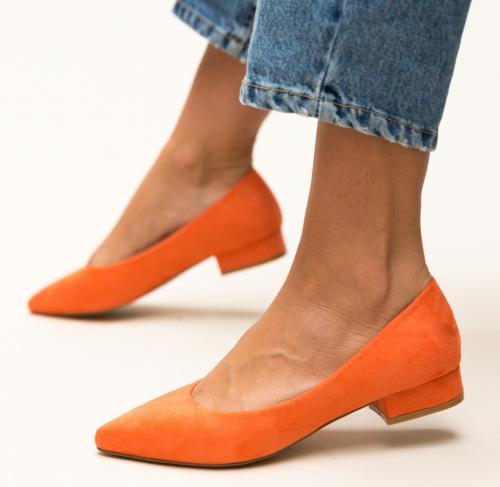 Pantofi Niam Portocalii - Pantofi depurtat - Pantofi cu toc mic