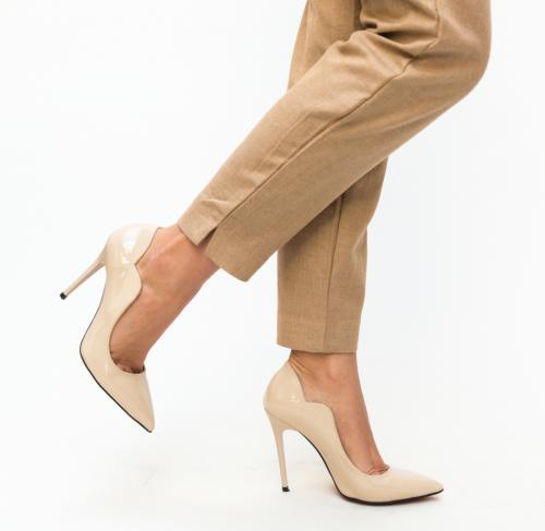 Pantofi Nitel Nude - Pantofi depurtat - Pantofi cu toc subtire