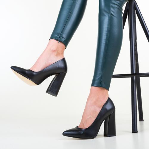 Pantofi Soreen Negri 3 - Pantofi depurtat - Pantofi cu toc gros