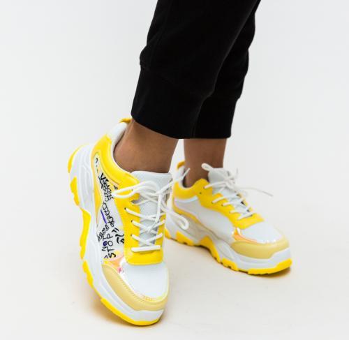 Pantofi Sport Ementin Galbeni - Incaltaminte sport - Pantofi sport