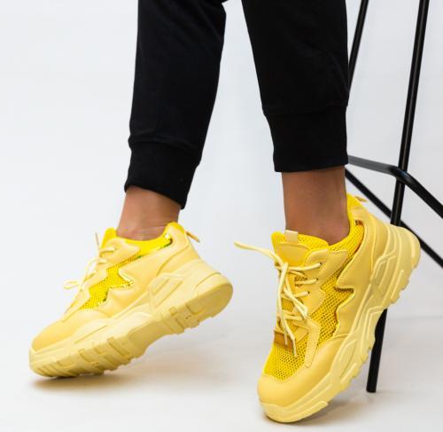 Pantofi Sport Horace Galbeni - Incaltaminte sport - Pantofi sport