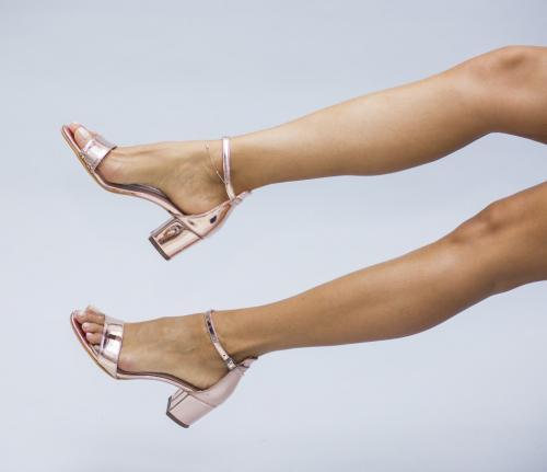 Sandale Fabri Bronze - Sandale depurtat - Sandale cu toc mic