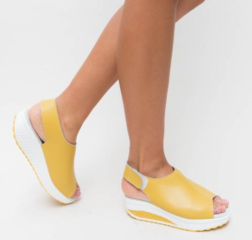 Sandale Hola Galbene - Sandale depurtat - Sandale inalte
