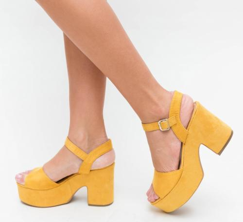 Sandale Nikoly Galbene - Sandale depurtat - Sandale cu platforma