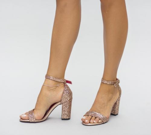 Sandale Tevot Aurii 2 - Sandale depurtat - Sandale cu toc