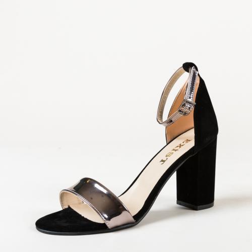 Sandale Zdubo Negre 2 - Sandale depurtat - Sandale cu toc gros